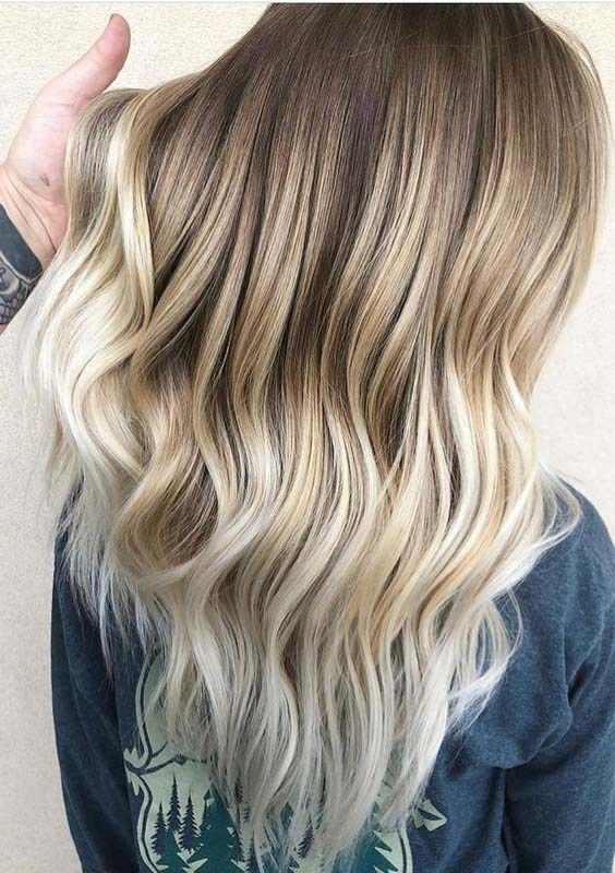 Pretty Ideas Of Balayage Ombre Hair Colors And Highlights For Long