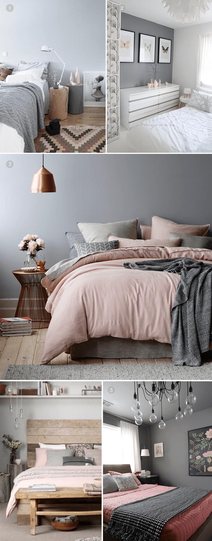 Szara sypialnia my bedroom ideas maison chambres parentales d coration appartement - Chambre parentale grise ...