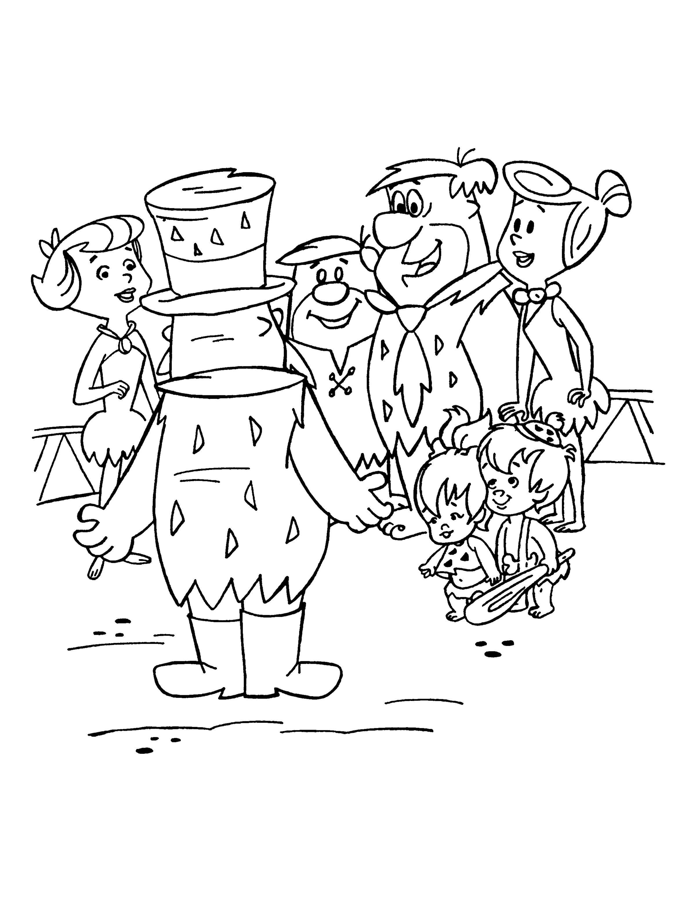 Desenhos para pintar Os Flintstones 14 | Pintura ante estres ...