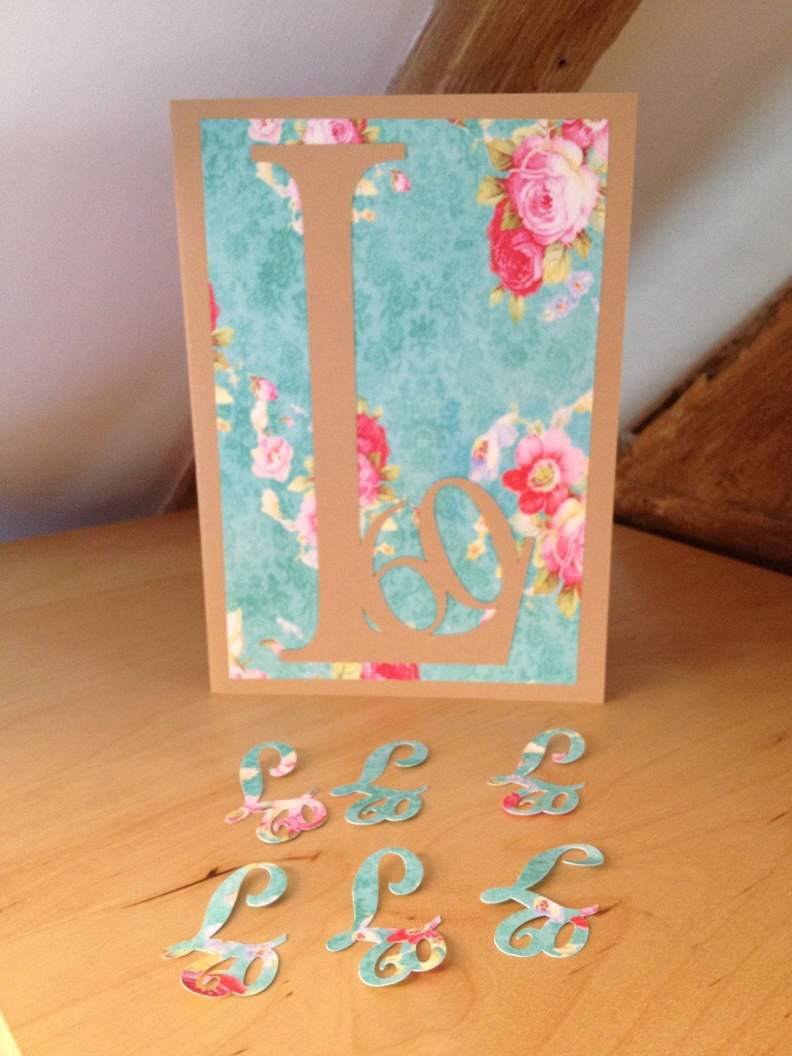 New to weheartcards on Etsy Floral 60th Birthday card Sixtieth – Bespoke Birthday Cards