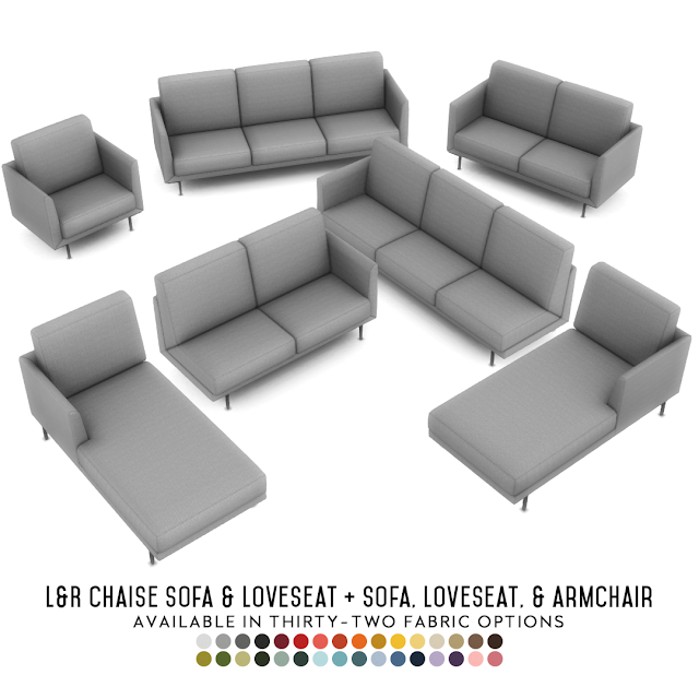 Harlow Chaise Lounges Contemporary Seating Set