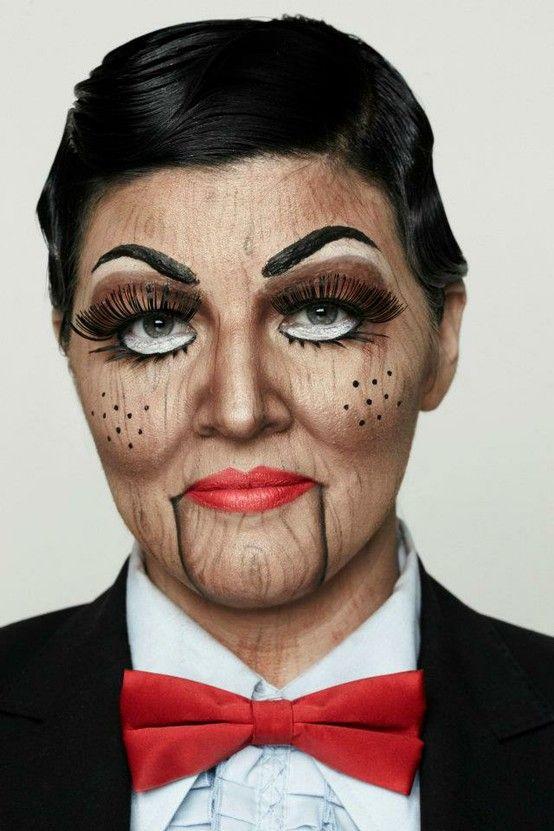 Halloween Puppet Face Makeup | Marionette Puppet Costume