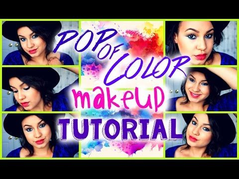 POP of color Makeup Tutorial for Summer! // Stylelights - YouTube