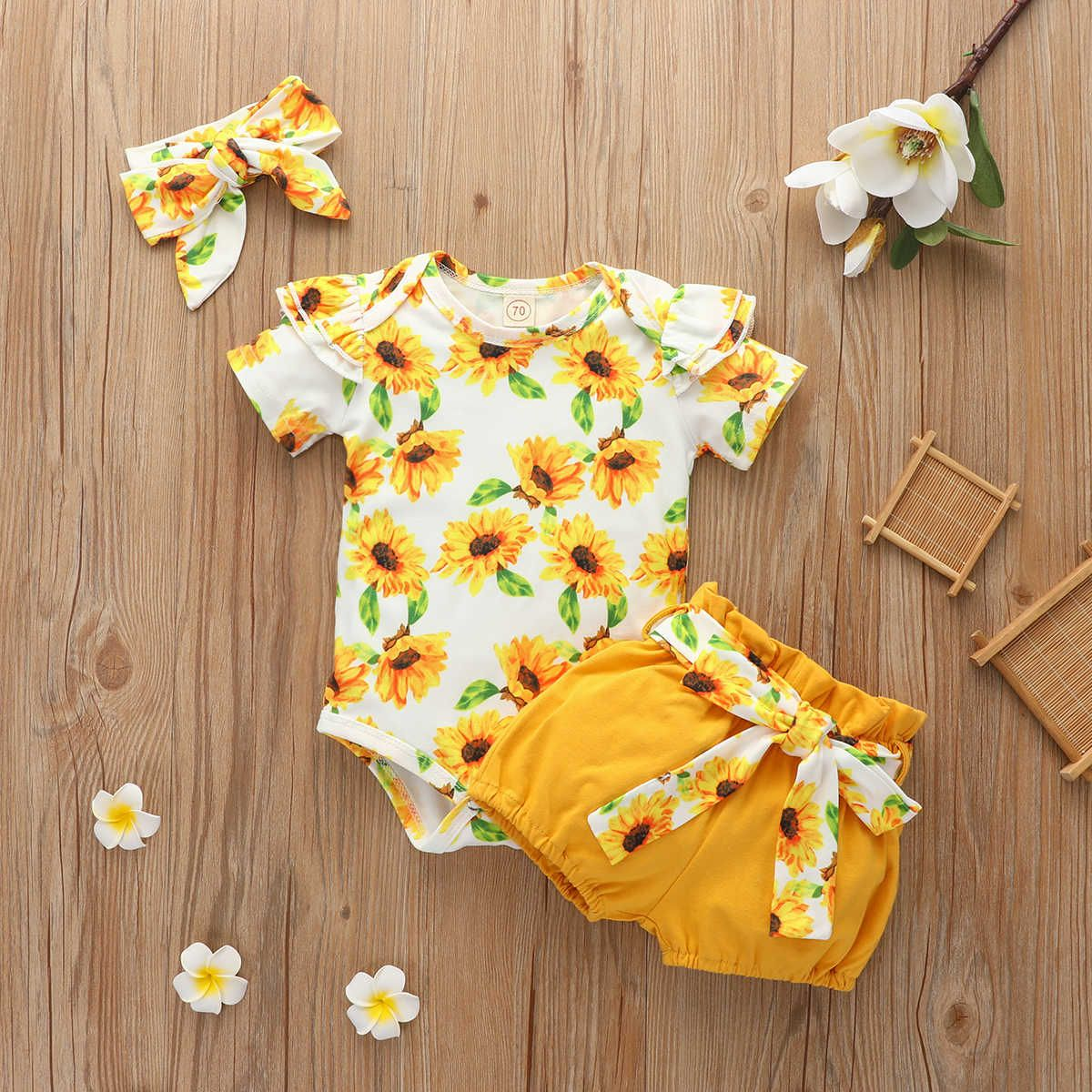 Pudcoco Newborn Set Baby Girl Print Short Sleeve Sunflower Leopard Child Girl Set Toddler Girl Clothes 0 18 Months Clothing Sets Aliexpress Baby Girl Floral Outfit Toddler Girl Outfits Baby Girl Newborn