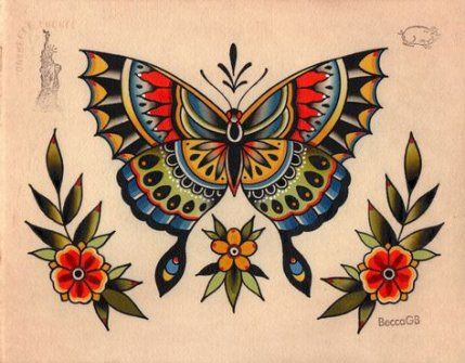58+ Trendy Tattoo Butterfly Old School Google