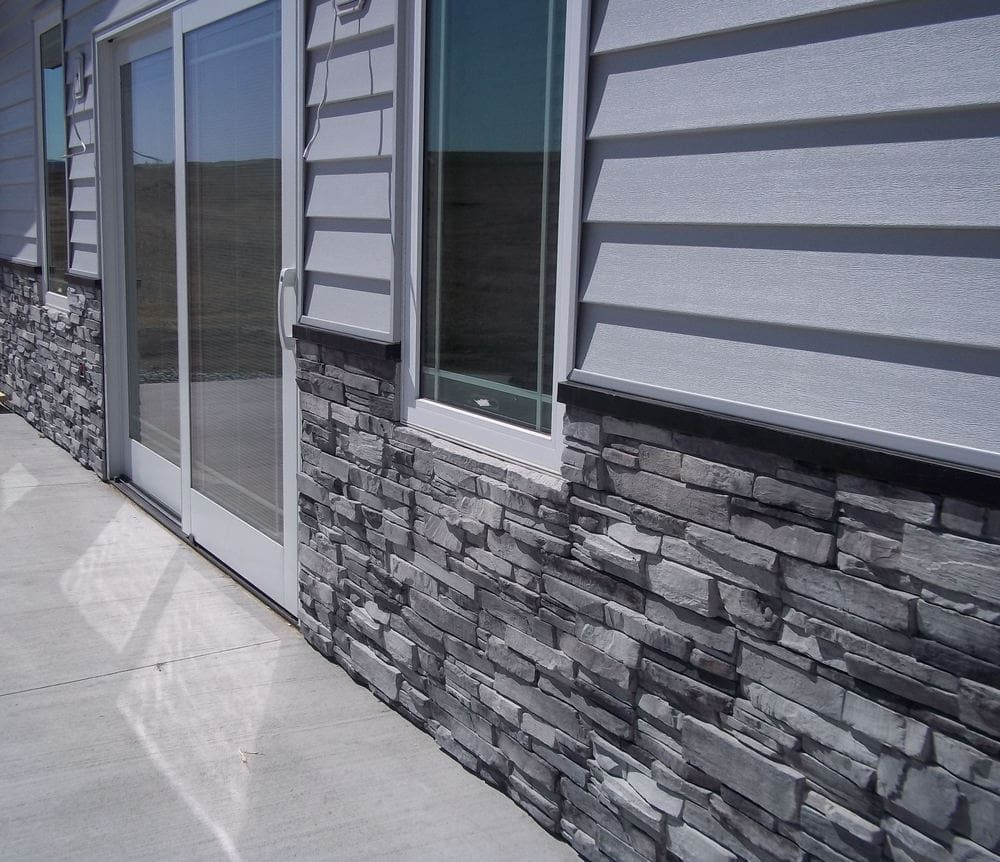 Colorado gray panel shed colora pinterest house for Mortarless stone siding