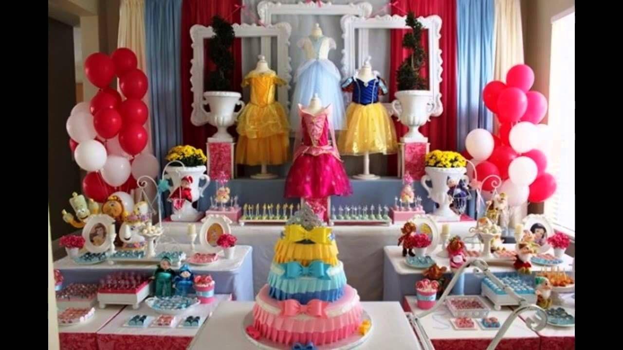 Theme Party Ideas Disney princess birthday party, Disney