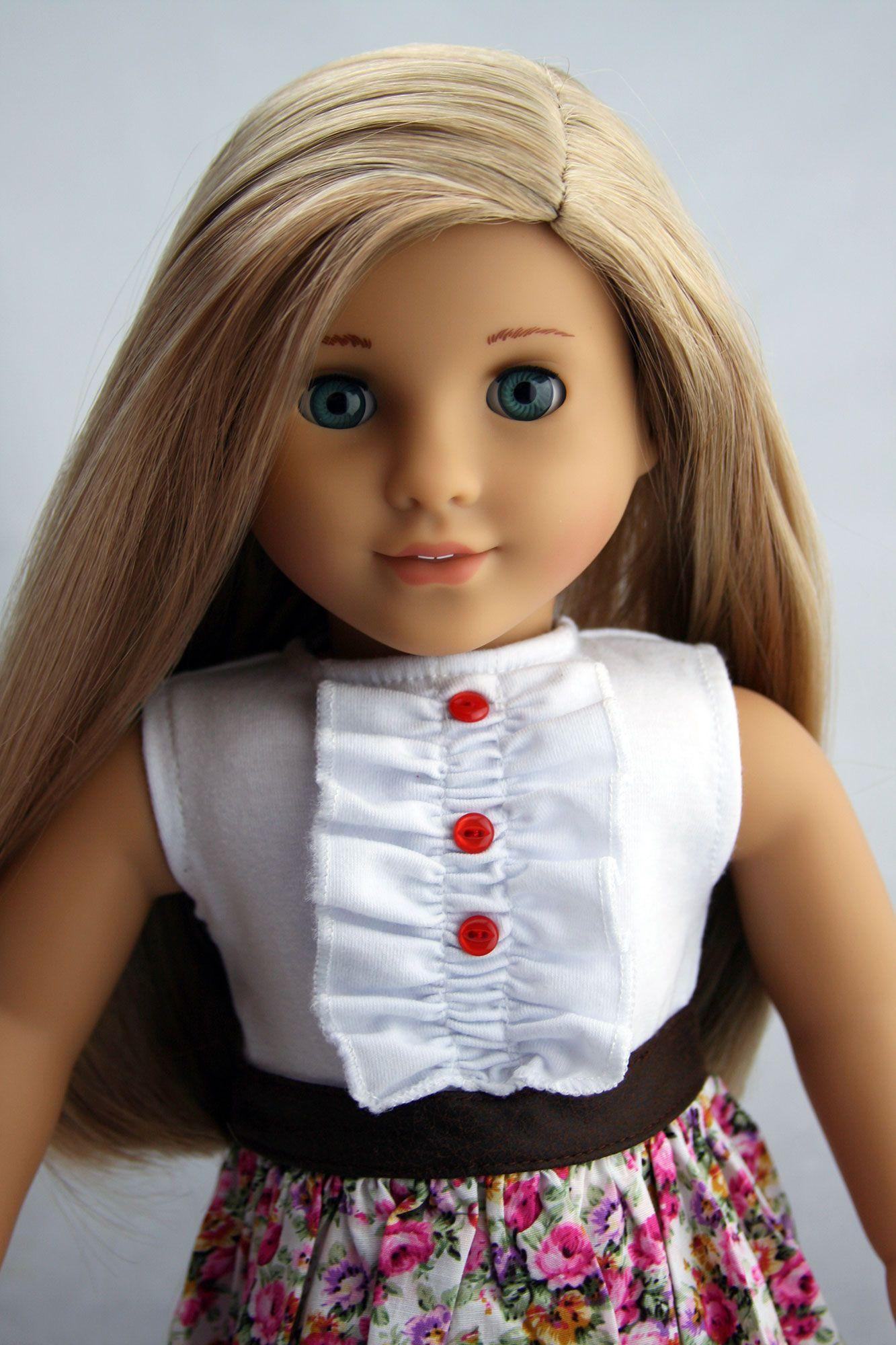 Custom American Girl Doll Aquamarine BlueGreen Eyes