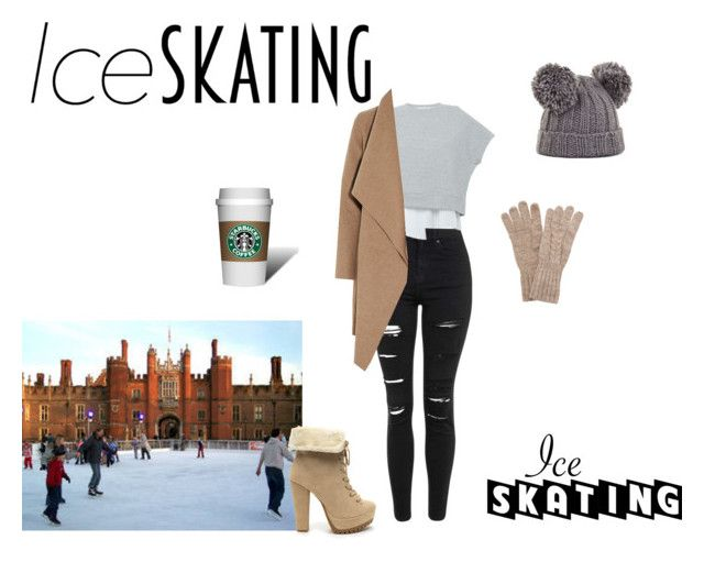 """""""ice skating"""" by kady143 on Polyvore featuring Topshop, 10 Crosby Derek Lam, Harris Wharf London, BCBGMAXAZRIA and White House Black Market"""