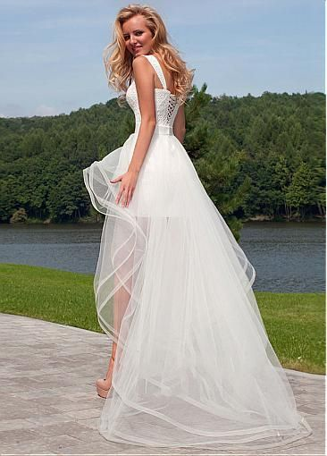 Chic Lace Sweetheart Neckline 2 In 1 Wedding Dresses