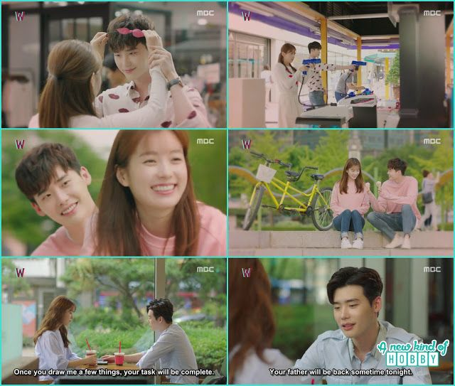 kang chul and yeon Joo date in the real world - W - Episode 13
