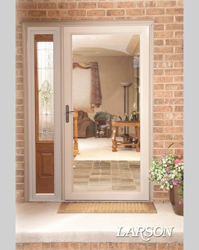Create A Classic Look With A Tan Door On Your Brick Home This