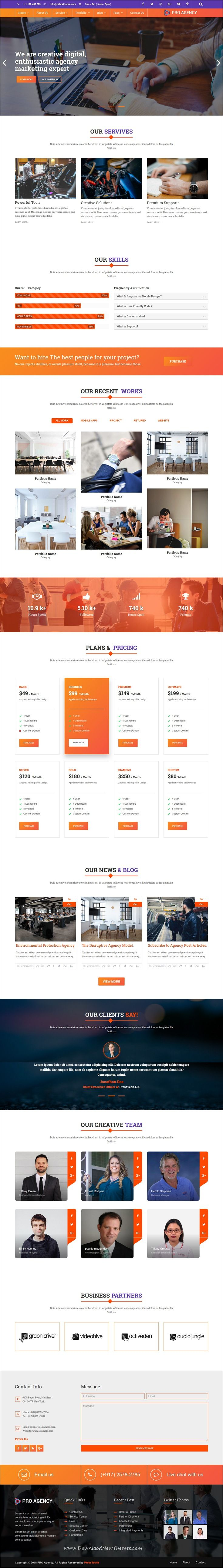 Pro Agency Personal & Business Template Business