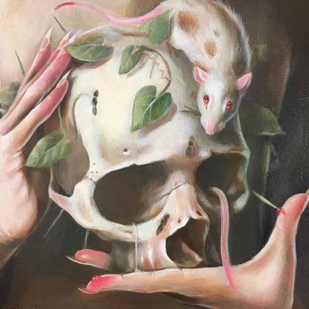 Skull Art by Hanna Jaeun ☠️
