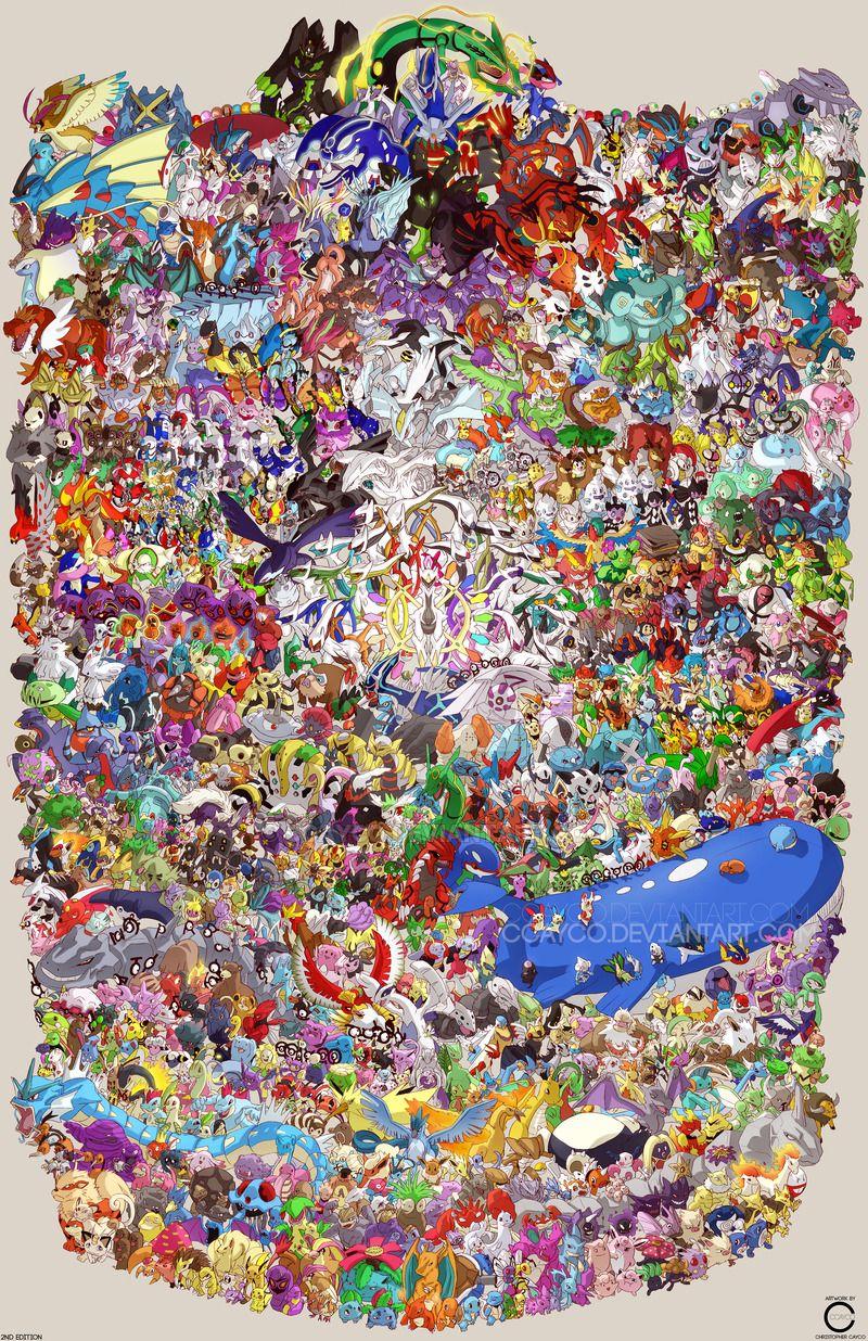 pokemon draw em all gen 1 6 by ccayco deviantart com on