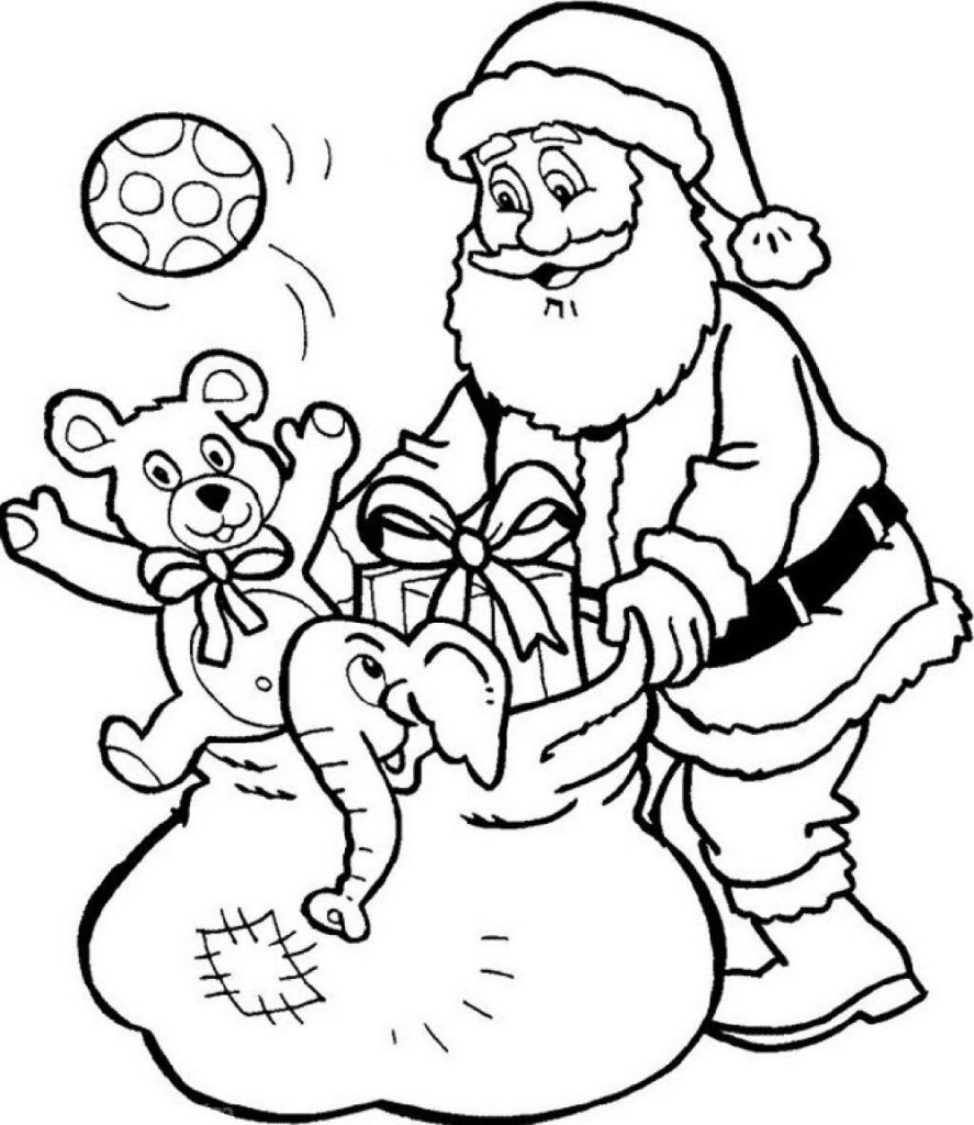 Christmas Santa Coloring Pages For Kids Christmas Coloring Pages