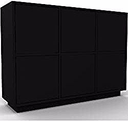 Black Sideboard – Designer Sideboard: Black Doors – H …