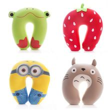 2015 New Arrival Minions U shape Travel Pillow Office Car Neck Support Pillow Almohada Cojines Decorativos