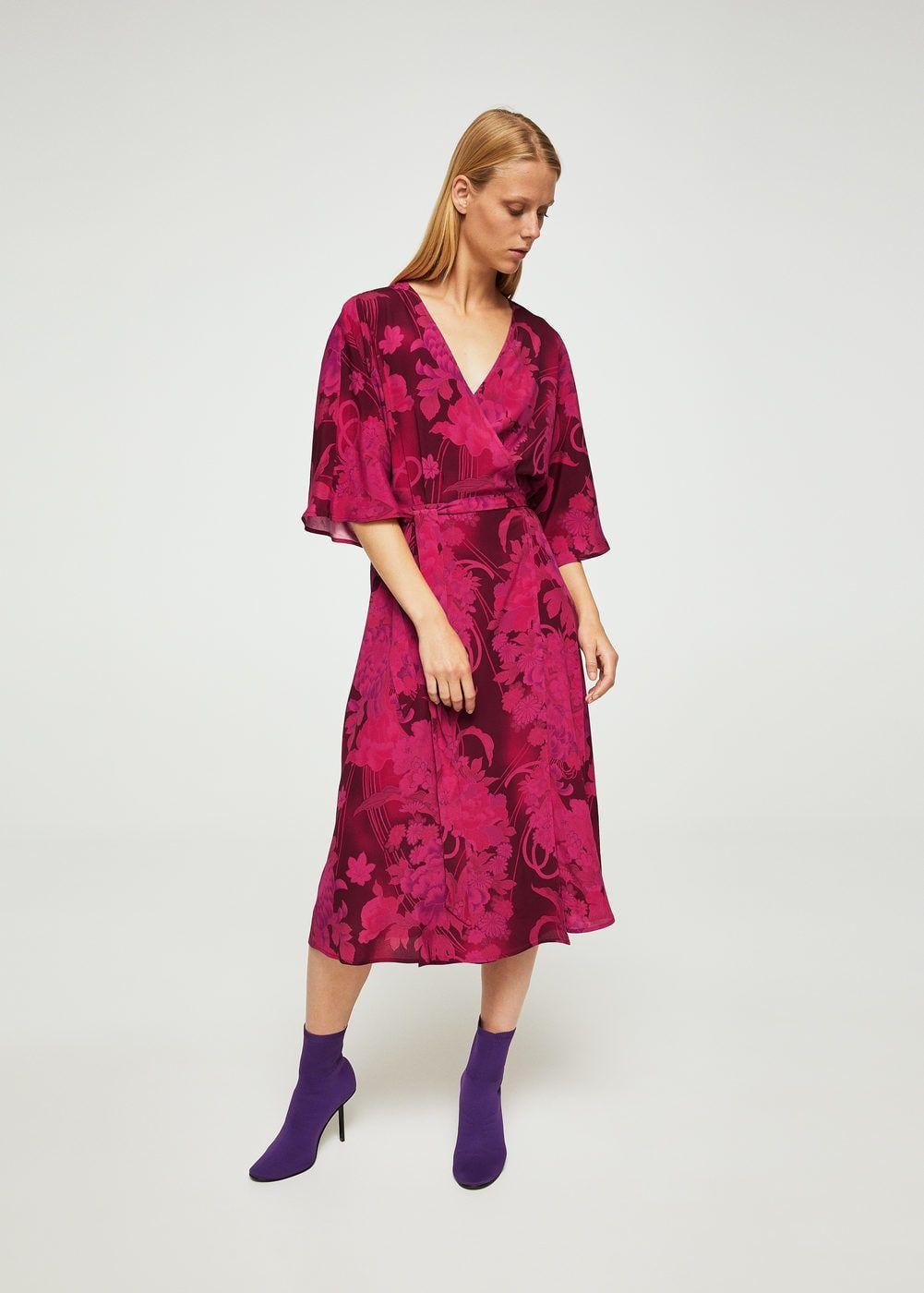 c6f99debe983 Mango Floral Wrap Midi Dress - Gomes Weine AG