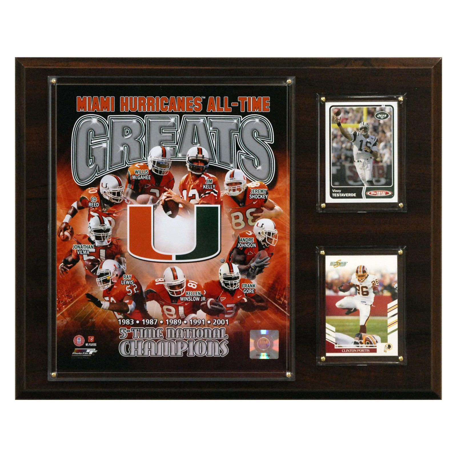 NCAA Football Miami Hurricanes All-Time Greats Plaque