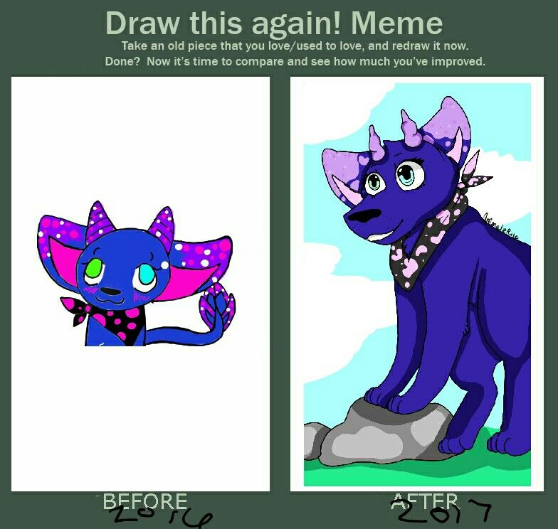 I Did A Draw This Again Meme With An Old Drawing I Found 3 Art By Animalzrule Art Old Art Cool Art