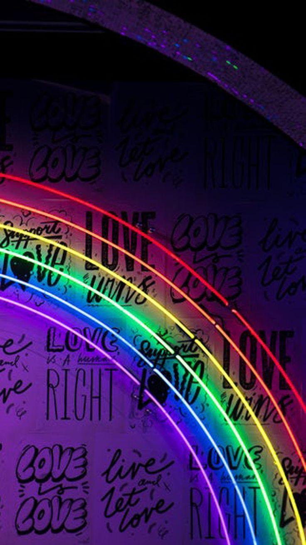 Apple Appleiphone Background Iphone Neon Phonebackgroundstumblrneon Phones Rainbow Wallpaper Backgrounds Wallpaper Iphone Neon Rainbow Wallpaper Iphone