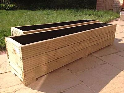 Made From Recycled Timber We Make Planter Boxes To Your Specification Also Offer Stain An Large Garden Planters Wooden Garden Planters Large Outdoor Planters