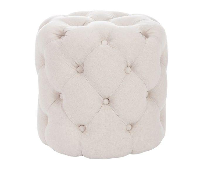 Puf tapizado en algodón Botones - crema | ❤ Moadboard ...