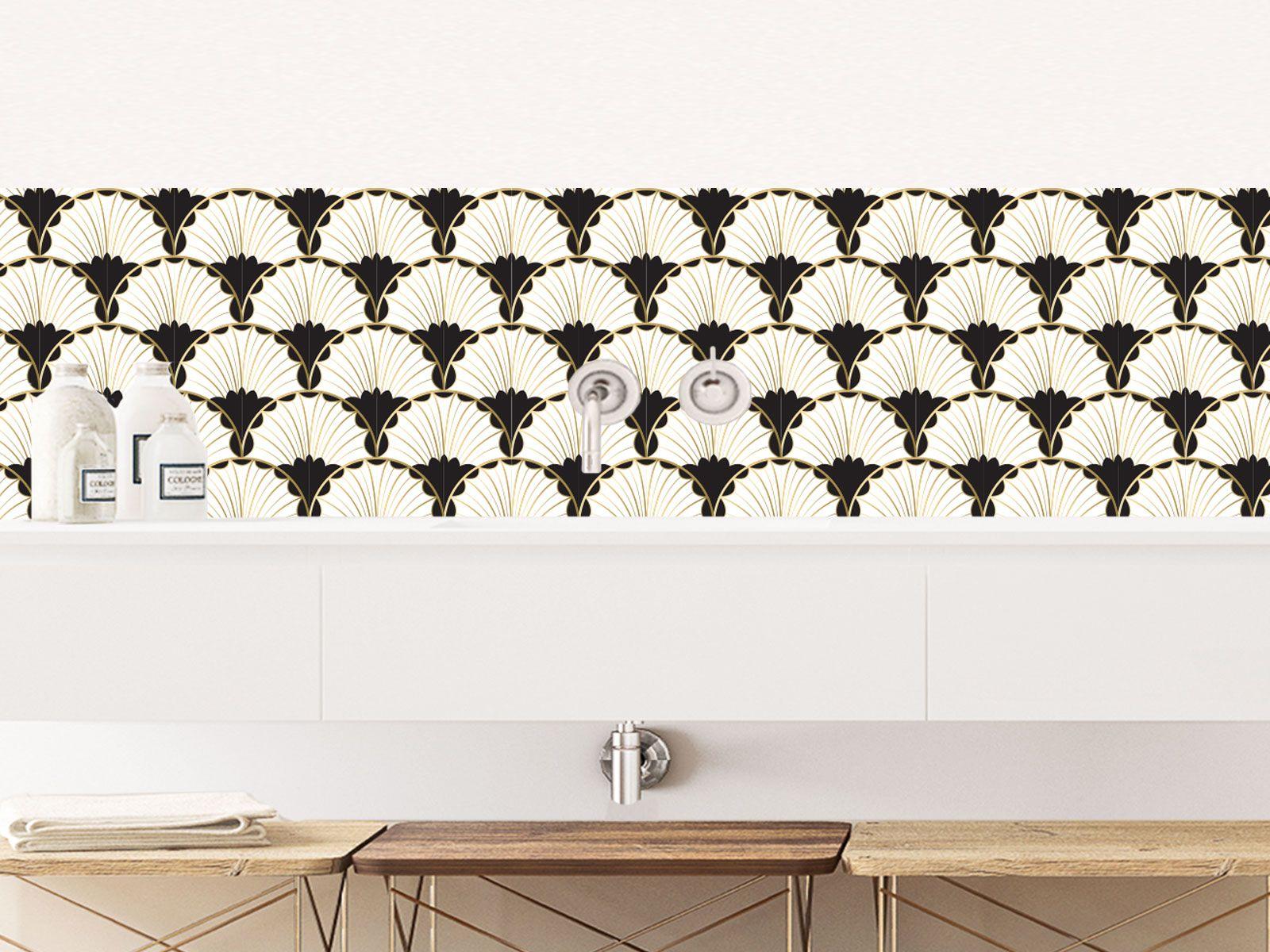 Crédence Adhésive Art Déco Nouvelle Vague  Salle de bain art deco