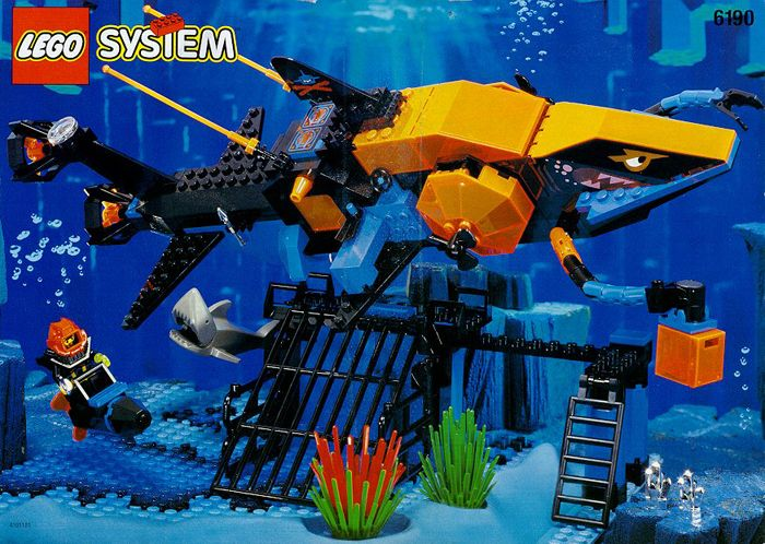 Review 6190 Shark S Crystal Cave Lego Action And Adventure Themes Classic Lego Lego System Vintage Lego