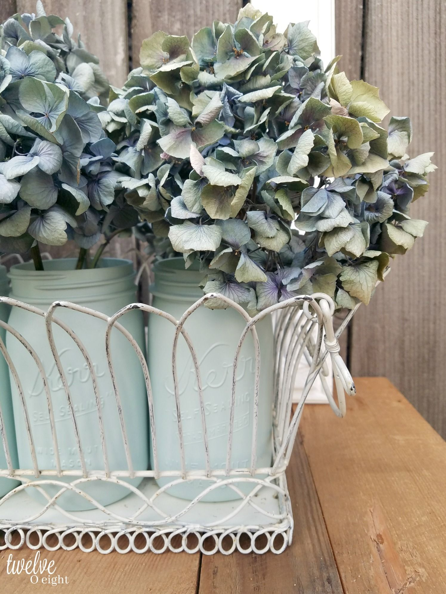 How to dry hydrangeas + slowing your roll - twelveOeight