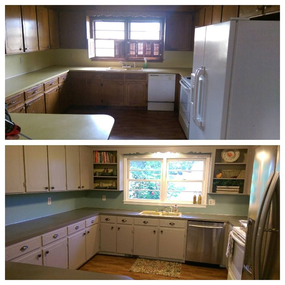 Before And After Rustoleum Countertop Paint Putty On The