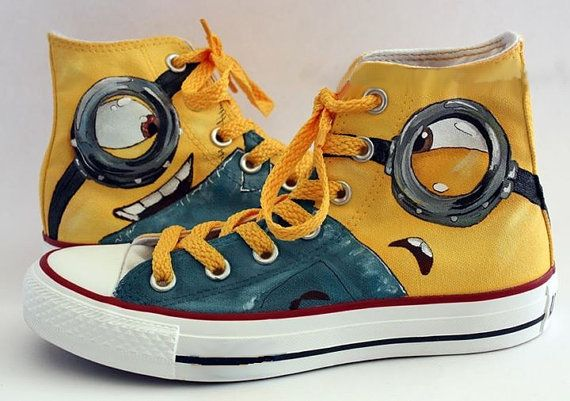 79c99e0046bc Minion Shoes Converse - Custom Converse by