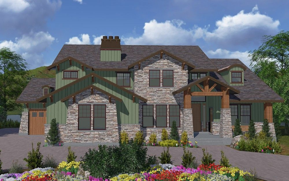 Mt. View Rendering - 2 Story Mountain Rustic style house ...