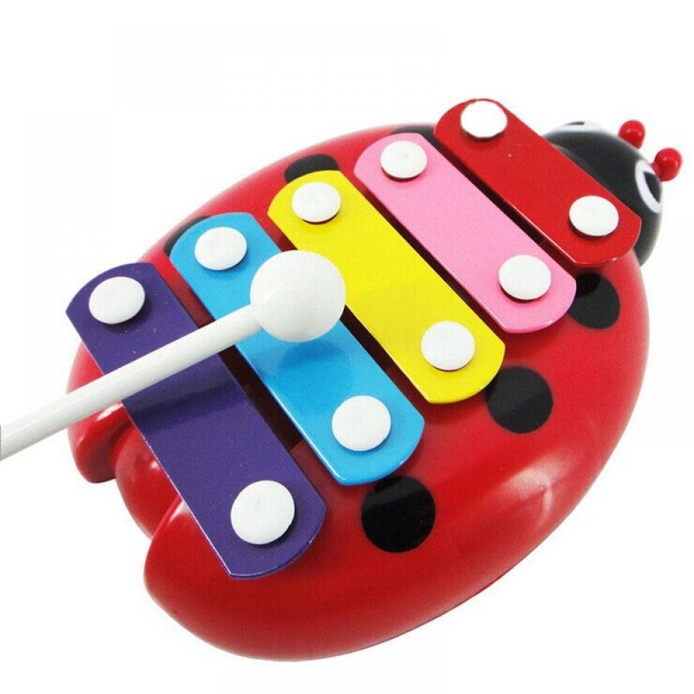 Kid Musical Instrument Gift Beetle Xylophone Wisdom Development Educational Toy