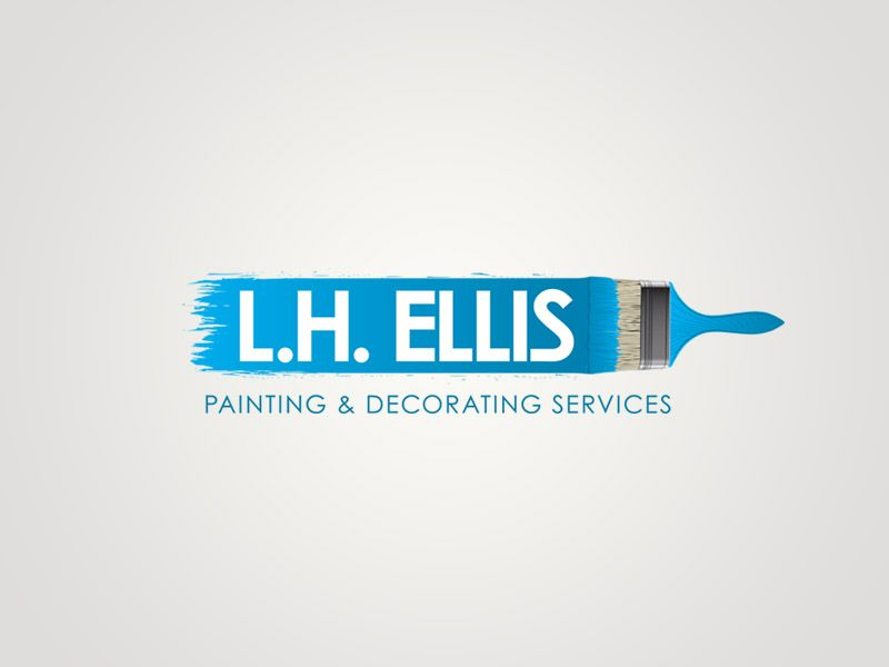 L H Ellis Painting Decorating Services Branding Logo Design Painting Logo Business Logo Design Logo Branding,400 Square Feet House In Kerala