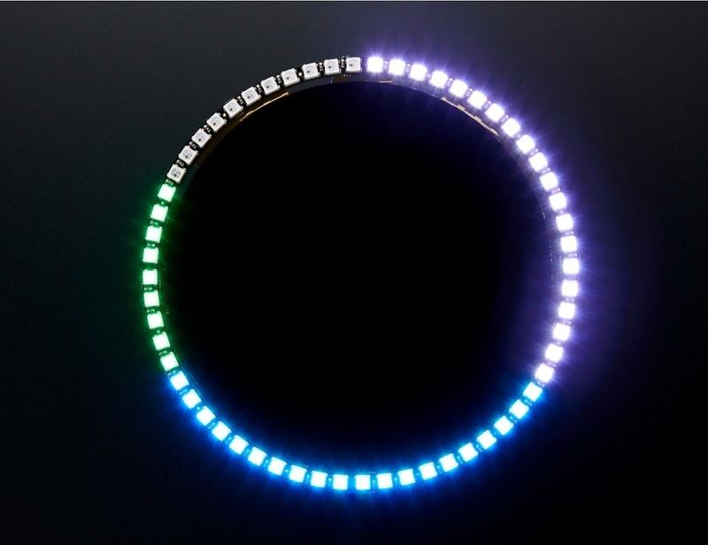 NeoPixel 60 Ring Wall Clock: This project uses the DS1307