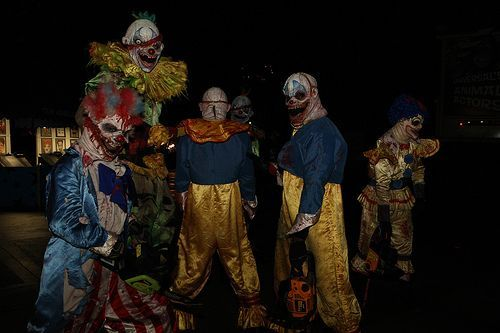 Coulrophobia; Generally found in children, but also adults, coulrophobia is the fear of clowns.