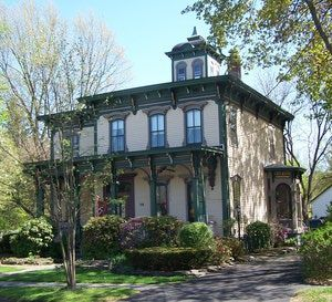 All About The Romantic Italianate House Style Italianate Lewis House In Upstate New York House Styles Victorian Homes Victorian Style Homes