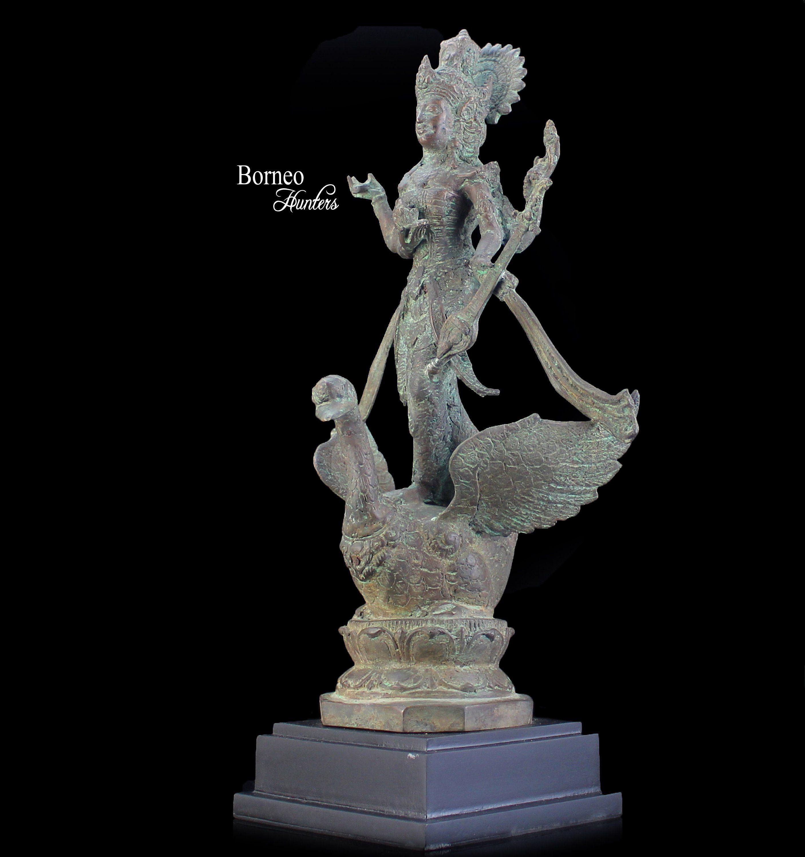 14637cm saraswati statuehindu goddess of etsy