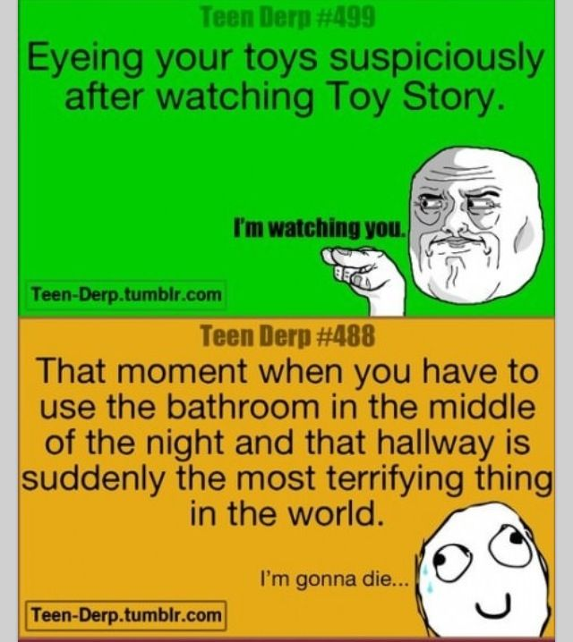 Omg the bottom one is legit!!!! 24 years old and I'm still searching for the murderer when I go pee hahahaa