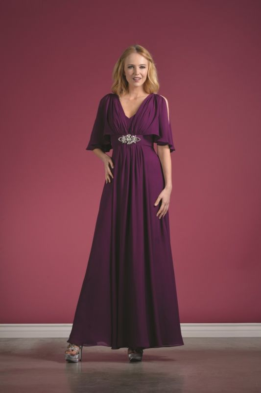Chiffon Long Mother Of The Bride Groom Plus Size Formal Event Dress
