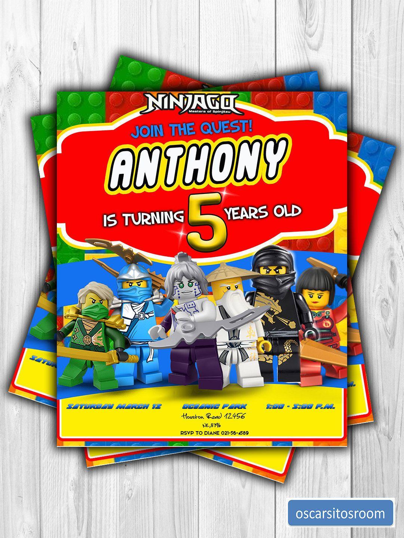Invitacion Digital Para Cumpleanos De Lego Ninjago De Oscarsitosroom