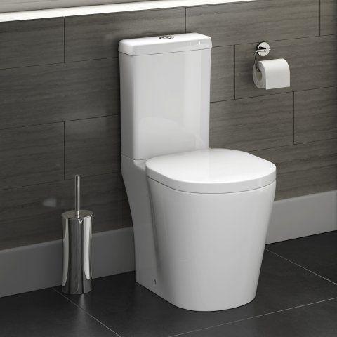 Admirable Albi Close Coupled Toilet Cistern Inc Soft Close Seat In Creativecarmelina Interior Chair Design Creativecarmelinacom