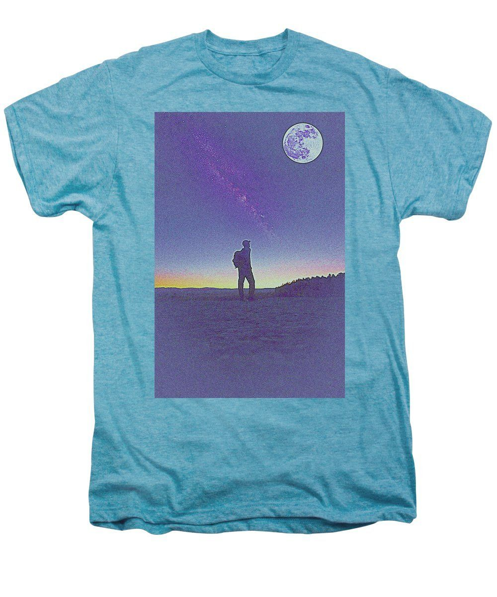 The Milky Way, The Blood Moon And The Explorer By Adam Asar 7 - Men's Premium T-Shirt