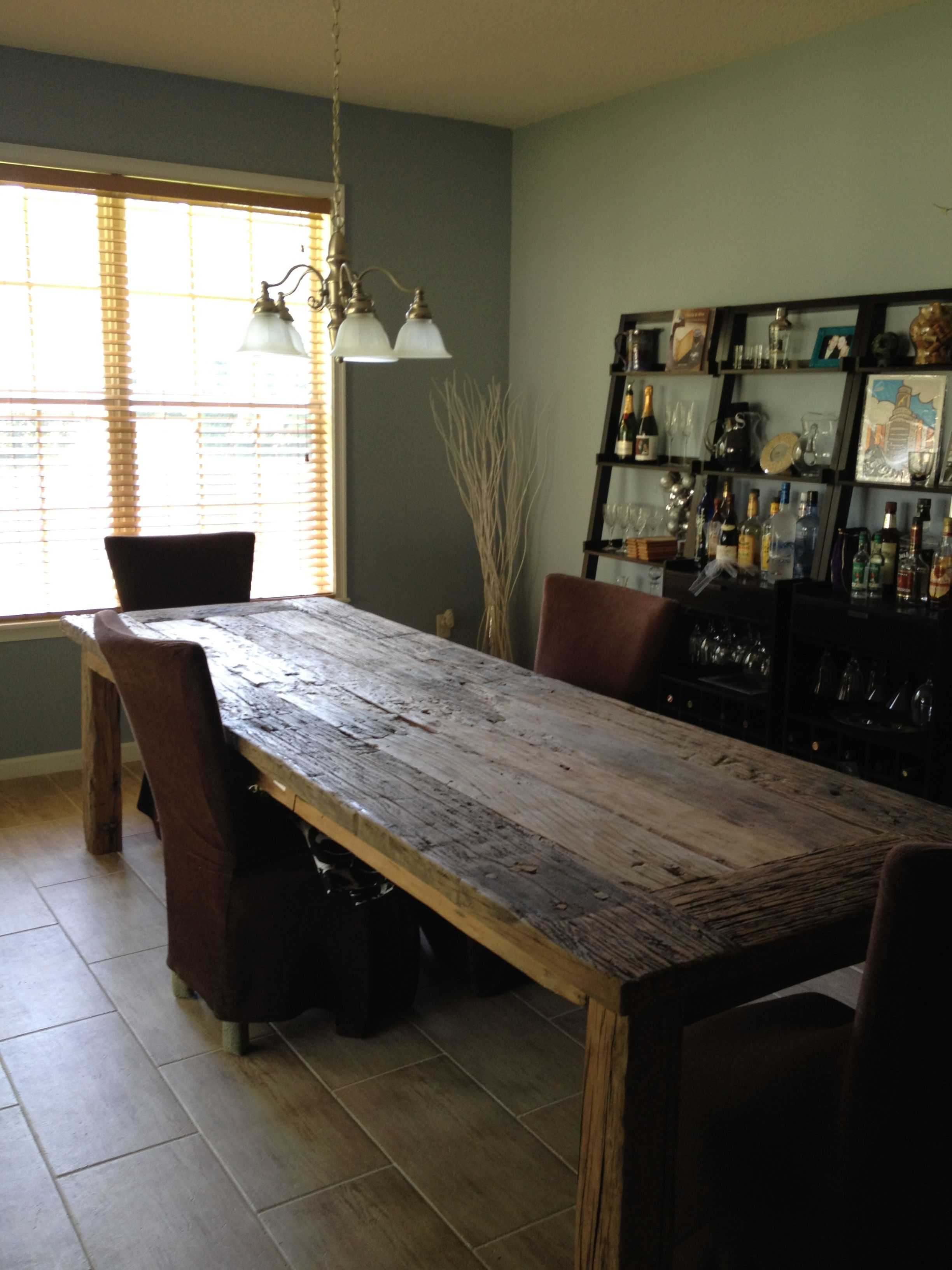 10 Ft Table Made From Railroad Ties From Bali Diy Table Legs Home Remodeling Home Furnishings