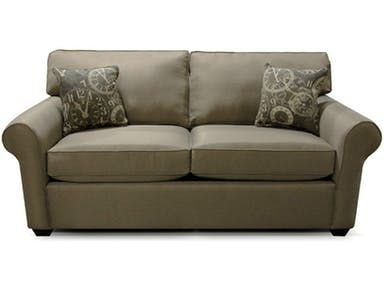 England Seabury Full Sleeper King Hickory Melrose Fabric Sofa On