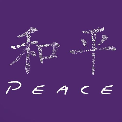Girls T Shirt Chinese Peace Symbol Created Using The Word Peace