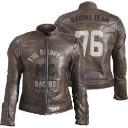 Rokker Mc Lederjacke Braun L Rokkerrokker #leatherjacketoutfit