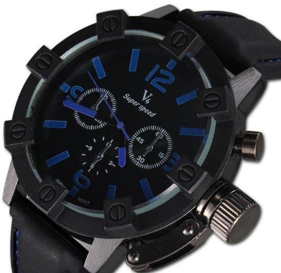 Pánské voděodolné hodinky V6 modré – pánské hodinky Na tento produkt se  vztahuje nejen zajímavá sleva 8a01684ef4